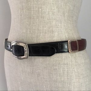 BRIGHTON ▪️ Vintage Two Tone Leather Belt